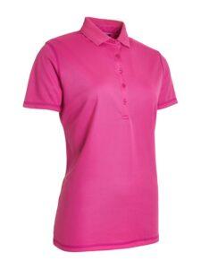 Abacus dames golfpolo Clark korte mouw roze