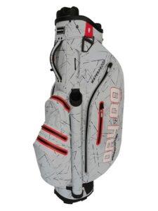 Bennington golftas QO Dry BD Cart Bag zilver-rood