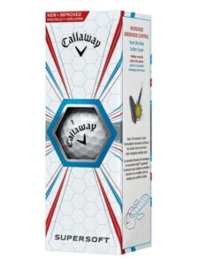 Callaway golfballen Supersoft sleeve wit