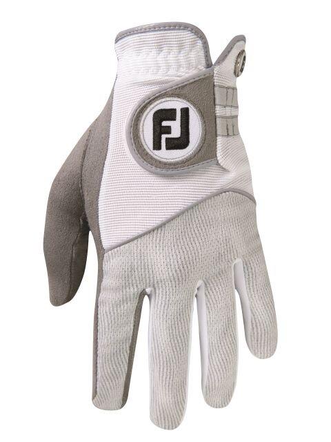 FootJoy dames golfhandschoen Raingrip grijs-wit (paar)