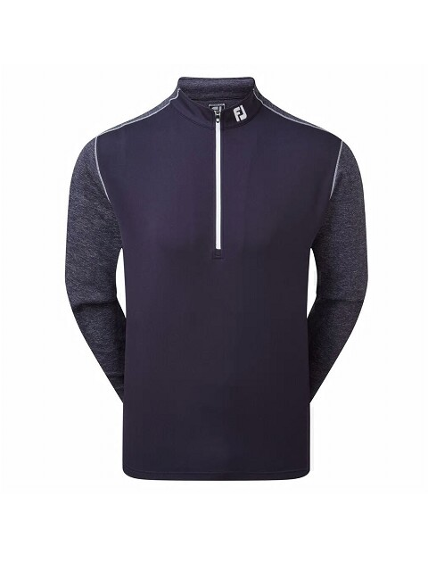 FootJoy heren golfsweater Chill-Out Tonal Heather navy