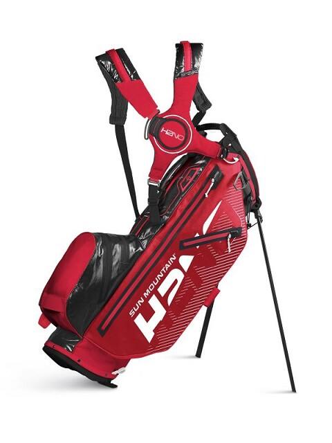 Sun Mountain golftas H2NO Lite 14 Stand Bag 2020 rood-zwart