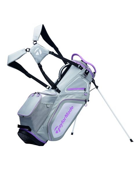 TaylorMade golftas Pro 8.0 Stand Bag lichtgrijs-paars