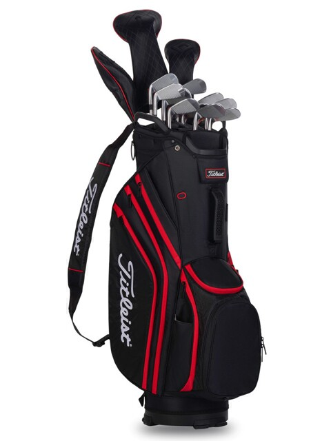 Titleist golftas 14 Lightweight Cart Bag zwart-rood