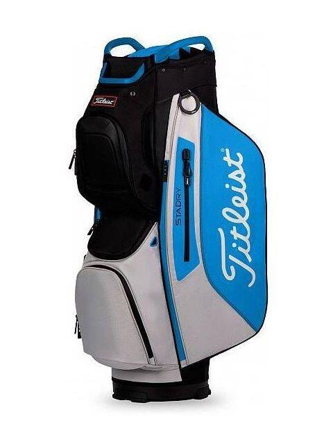 Titleist golftas StaDry 15 Cart Bag zwart-blauw-grijs