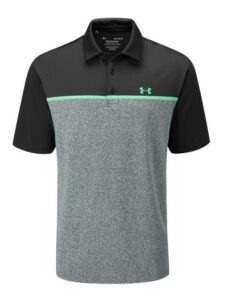 Under Armour heren golfpolo Crestable Playoff 2.0 grijs-zwart-groen