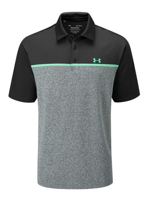 Under Armour heren golfpolo Crestable Playoff 2.0 grijs-zwart-groen
