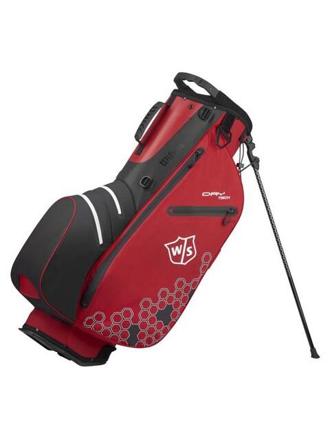 Wilson Staff golftas Dry Tech II Stand Bag rood-wit-zwart
