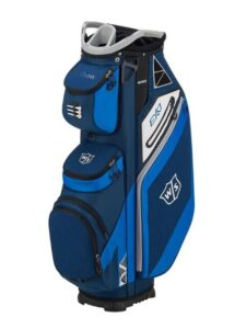 Wilson Staff golftas Exo Cart Bag donkerblauw-royal-wit