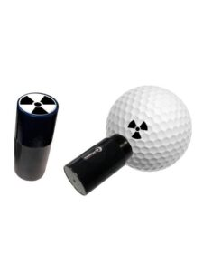 Asbri golfbalstempel Nucleair zwart