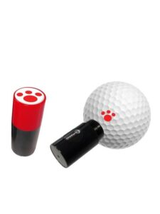 Asbri golfbalstempel Pootafdruk rood