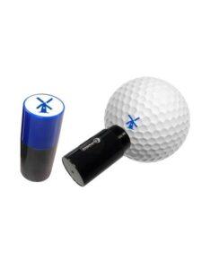 Asbri golfbalstempel Windmolen blauw