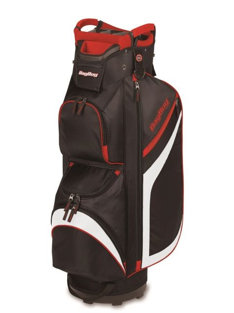BagBoy golftas DG-Lite II Cart Bag 2020 zwart-wit-rood