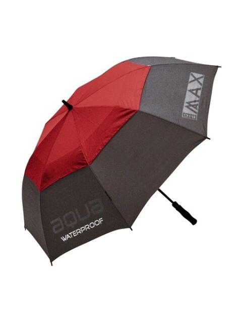 Big Max golfparaplu Aqua UV grijs-rood