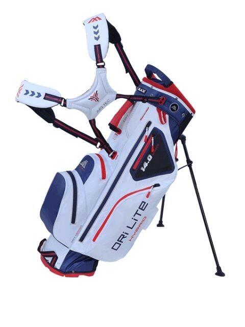Big Max golftas Dri Lite Hybrid Stand Bag wit-donkerblauw-rood
