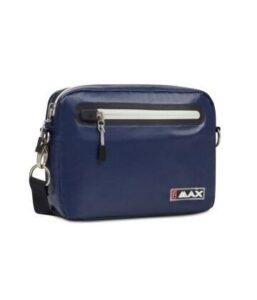 Big Max handtasje Aqua blauw-wit 24x18x5cm