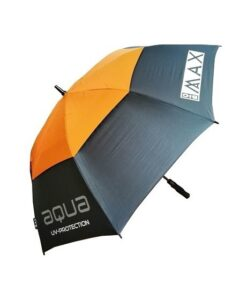 Big Max golfparaplu Aqua UV grijs-oranje