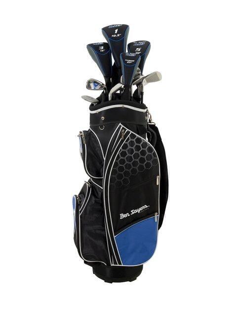 Ben Sayers heren golfset M8 Cart Bag stalen shafts  + 1 inch verlengd