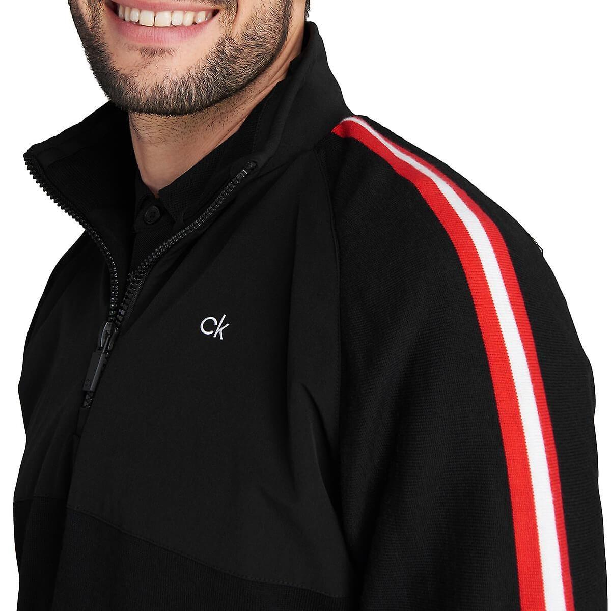 Calvin Klein heren windbrekertrui Glacier zwart-rood