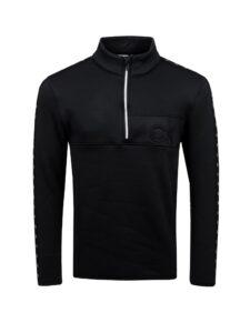 Calvin Klein heren golfsweater Denali zwart met logo's