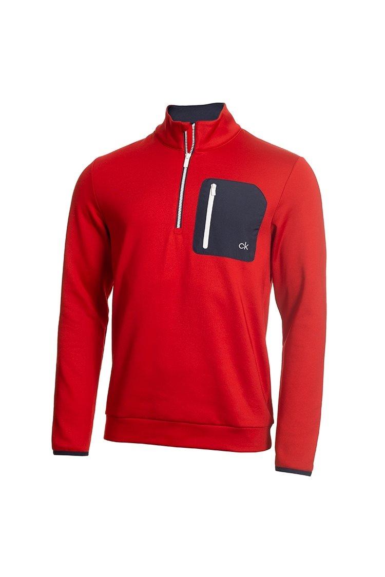 Calvin Klein heren golfsweater Pinnacle rood