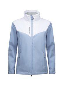 Cross dames golfregenjack Cloud blauw-wit