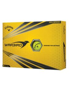 Callaway golfballen Warbird geel