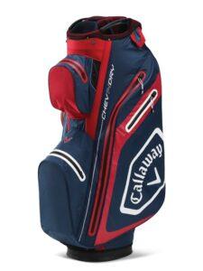 Callaway golftas Chev Dry 14 Cart Bag navy-rood