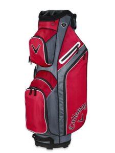 Callaway golftas X Series Cart Bag rood-titanium-wit