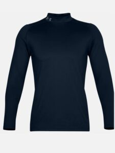 Under Armour heren golfpully Coldgear Infrared mock donkerblauw