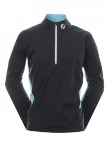 FootJoy heren golfregenjack Hydroknit halve rits donkerblauw-lichtblauw