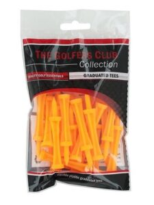 Golfers Club Graduated Tees oranje 2 3/4 inch - 50mm