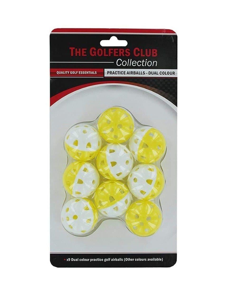 Golfers Club oefenballen Practice Airball 9 stuks
