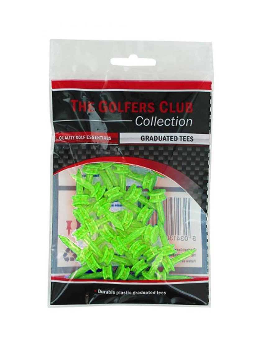 Golfers Club golftees Step Height 6mm lime