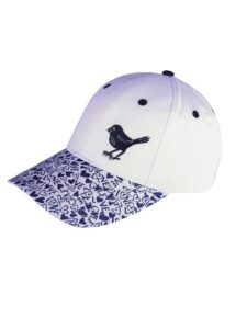 Girls Golf dames golfcap Hearts & Blue Love wit-blauw