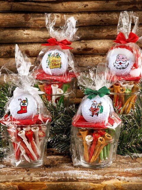 Sportiques Kerst golfbal & tees - Cadeausok
