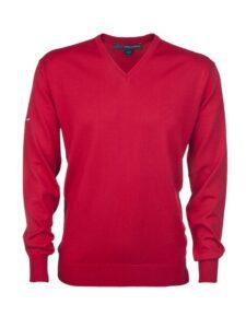 Greg Norman heren golfpullover Merino rood