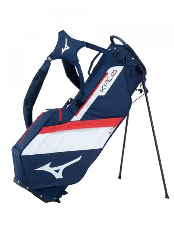 Mizuno golftas K1-Lo Stand Bag donkerblauw-wit-rood