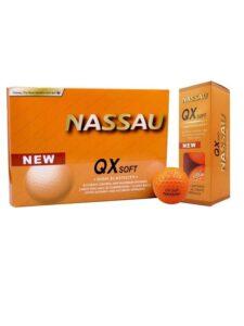 Nassau golfballen QX soft oranje