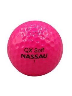 Nassau golfballen QX soft pink