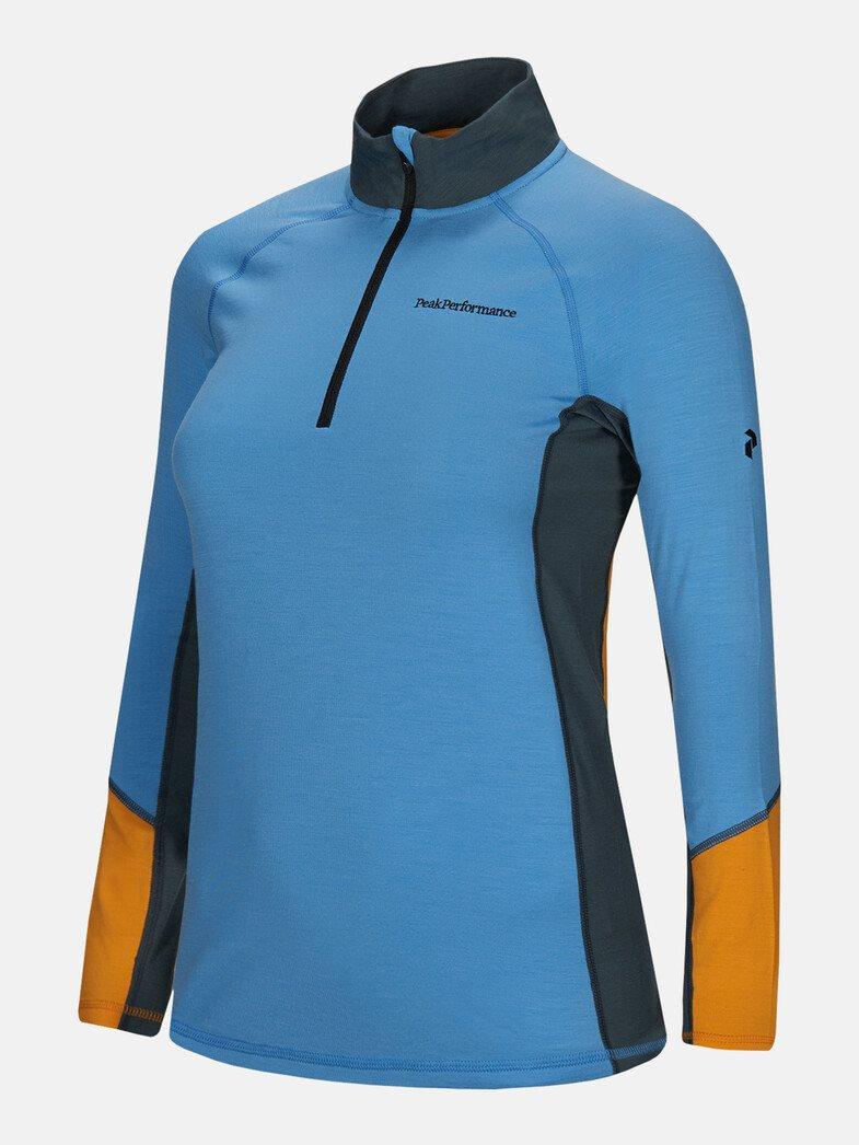 Peak Performance dames golfpully Magic blauw-oranje