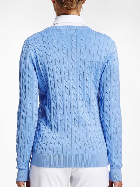 Röhnisch dames golfpullover Cable lichtblauw