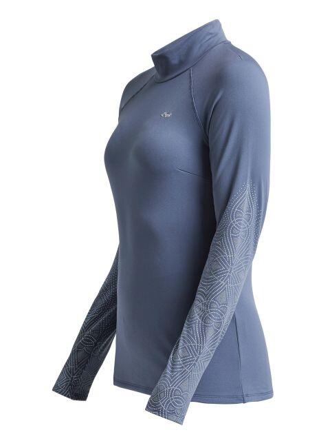 Röhnisch dames golfpully Dew Polo grijs blauw