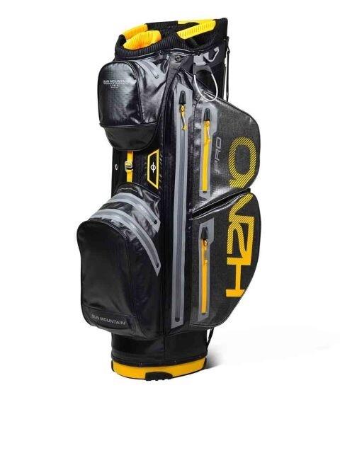 Sun Mountain golftas H2NO Pro Cart Bag zwart-geel