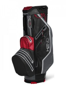 Sun Mountain golftas H2NO 14 Lite Cart Bag 2021 zwart-rood