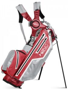 Sun Mountain golftas H2NO Lite 14 Stand Bag 2021 rood-zilver-wit