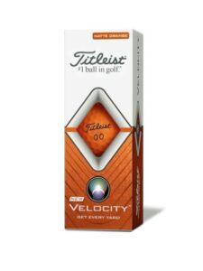 Titleist golfballen Velocity oranje sleeve