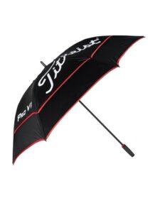 Titleist golfparaplu Tour Double Canopy zwart-rood