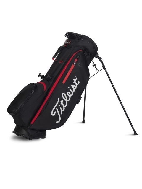 Titleist golftas Players 4+ Stand Bag zwart-rood
