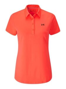 Under Armour dames golfpolo Zinger korte mouw oranjerood